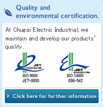 Quality and environmental certification.